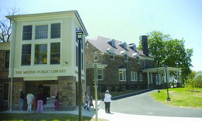 The Milton Public Library on Rose Hill.