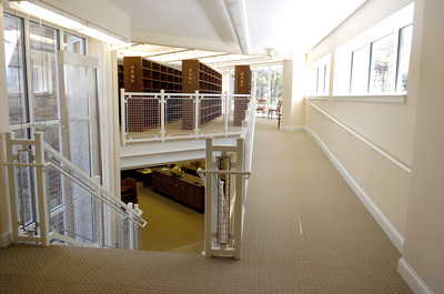 The interior of the new Milton Library.
