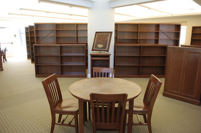 There are plenty of tables and chairs for readers to sit down at and enjoy a book at the new Milton Library.