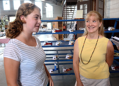 Kirsten Leitzel, 14, of Sunbury and Mary Carol Hess of Danville talk about their experience of winning with their chocolate baked goods at the Northumberland County Fair and moving on the the State Farm Show in January.