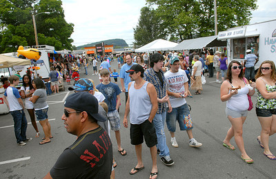 Hundreds gather for fun and food at the Sunbury Fireman's Festival Saturday June 9, 2012.