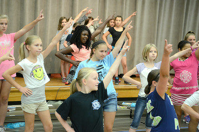 Milton Elementary school students rehearse on Tuesday for their upcoming show, What's Shakin', Shakespeare?  The show will be performed on Wednesday July 16 at 7:00 p.m. and Thursday, July 17, at 10:00 a.m. and 7:00 p.m. at the James F. Baugher Elementary School in Milton.