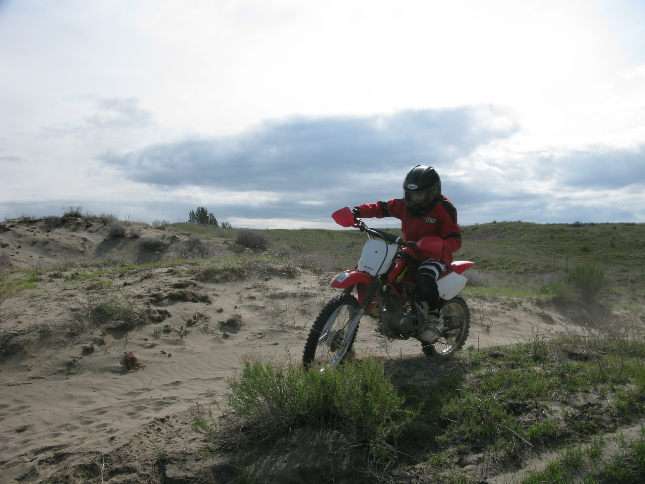 Always good to do some moto after camping!