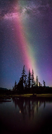 Stable Auroral Red Arc over Kalum Lake.