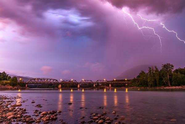 Summer Storm, Old Skeena Bridge