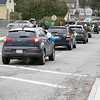 Teachers and staff from the Northwest Elementary School in Leominster had a car parade throughout some of the city. The start of the parade on Stearns Avenue. SENTINEL & ENTERPRISE/JOHN LOVE