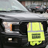 Teachers and staff from the Northwest Elementary School in Leominster had a car parade throughout some of the city. this car belonged to the schools crossing guard. SENTINEL & ENTERPRISE/JOHN LOVE
