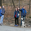Teachers and staff from the Northwest Elementary School in Leominster had a car parade throughout some of the city. Watching the parade leave the school Maya Cohen, 14, Emmma Testa, 14, Gil Cohen, 12, Dvorit Cohen and their dog Elijah. SENTINEL & ENTERPRISE/JOHN LOVE