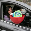 Teachers and staff from the Northwest Elementary School in Leominster had a car parade throughout some of the city. Northwest's first grade teacher Brittany Barnaby had some bubbles for the parade. SENTINEL & ENTERPRISE/JOHN LOVE