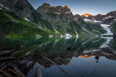 Mesmerizing Reflections of Trapper Lake at Dawn