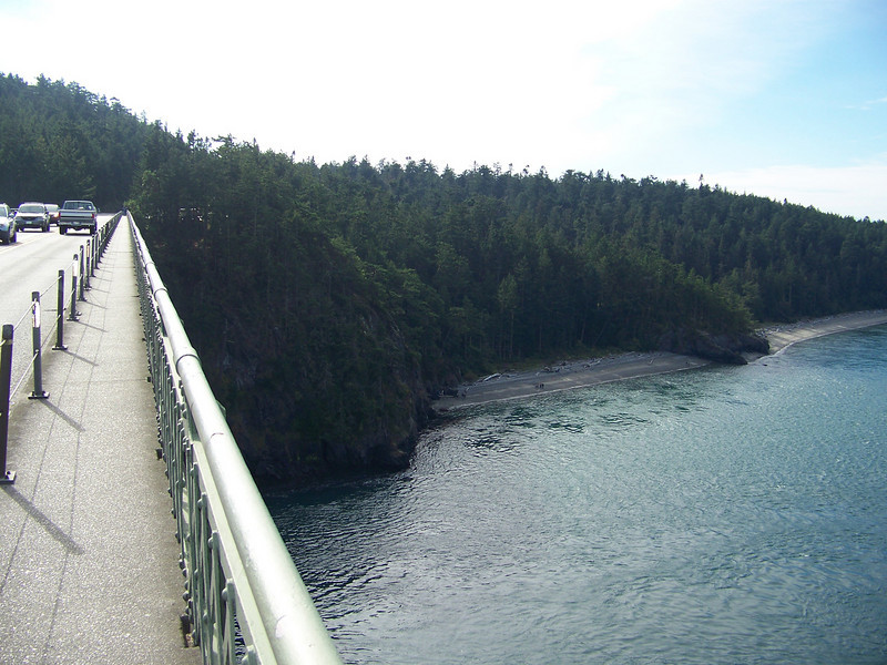 Deception Pass as seen from the bridge.