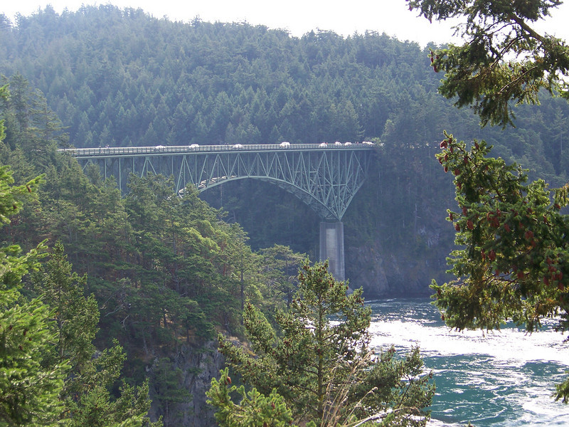 On October 11, 2008, Mom and I took a fantastic daytrip down the entire length of Whidbey Island.  This is the Deception Pass bridge, which connects the north end of the island to the mainland.