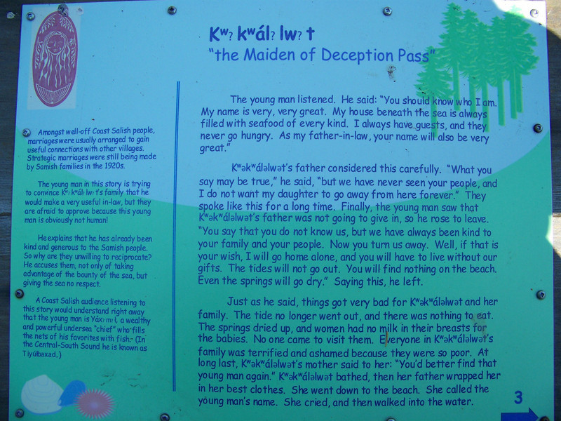 Part three of the story of the maiden.<br /> [Deception Pass State Park]