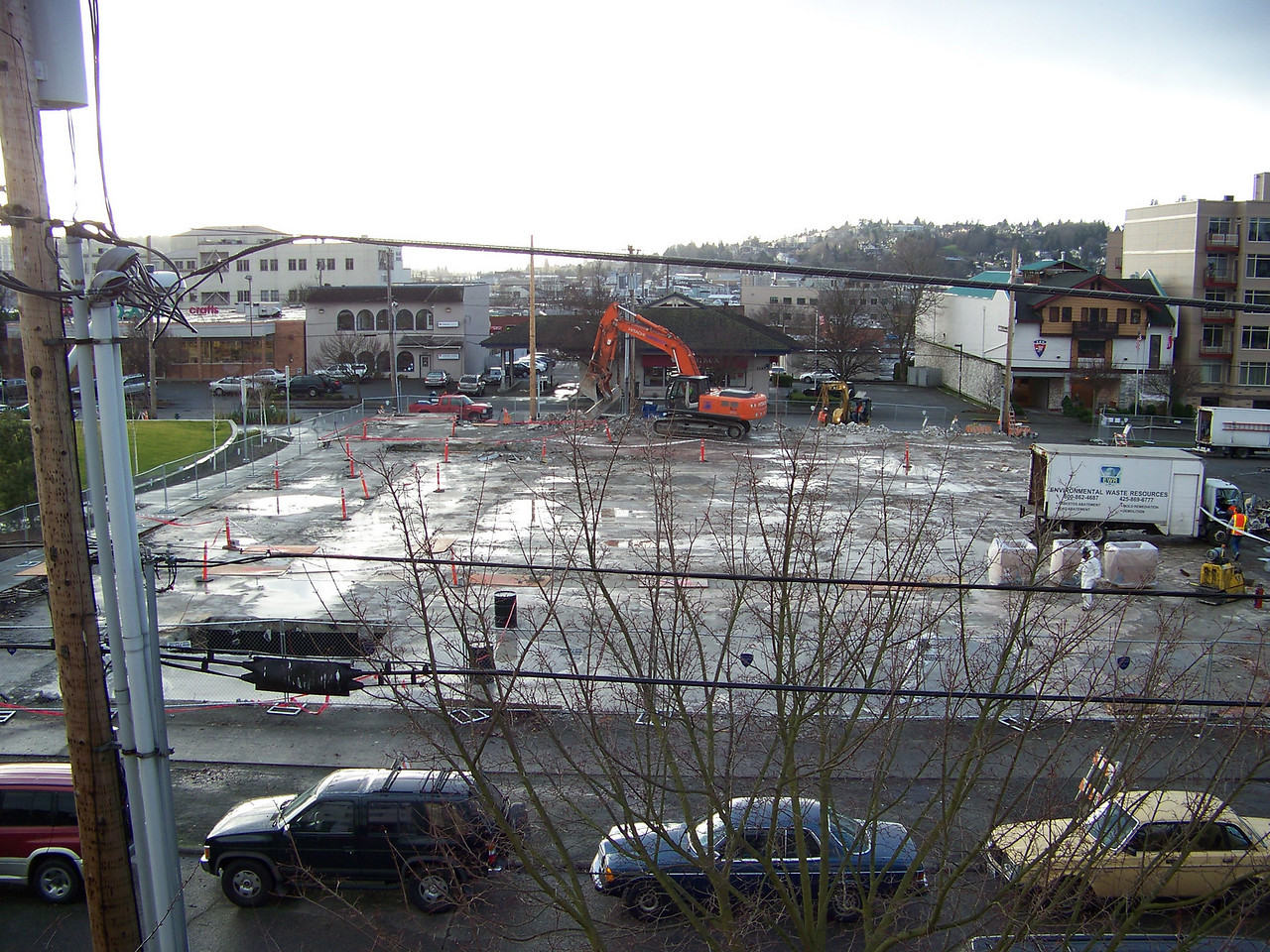 January 11, 2008.  Above-grade demolition of the old Ballard QFC was now nearly complete.