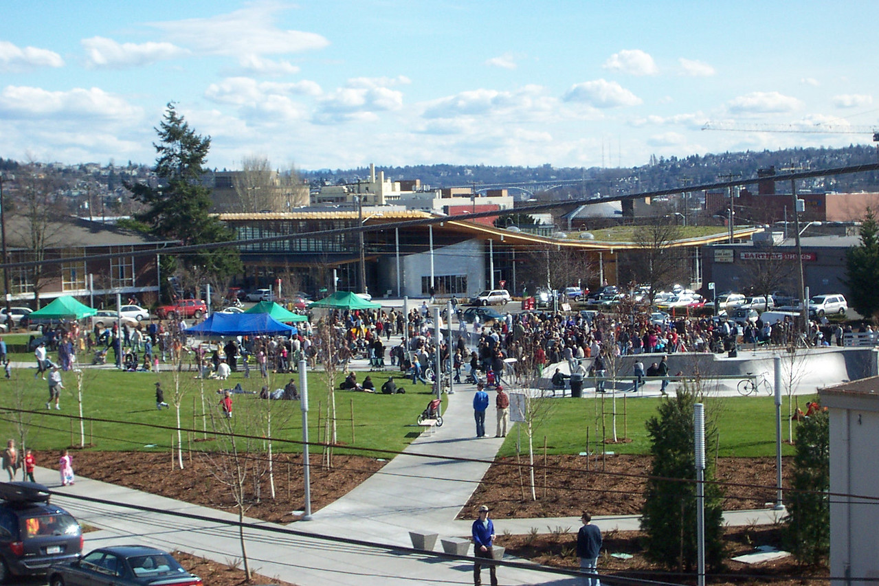 The official dedication of Ballard Commons Park was on March 4, 2006.