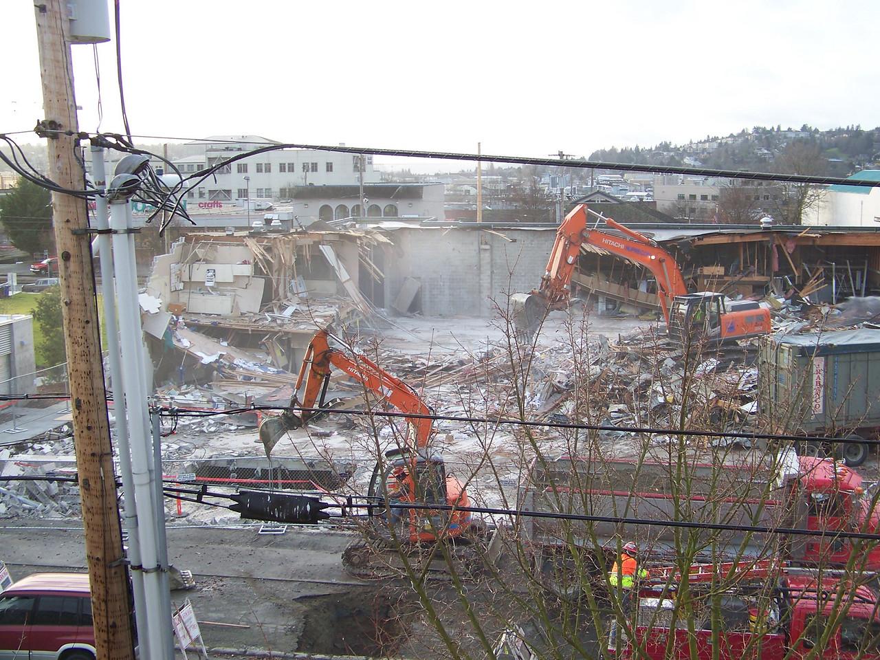January 9, 2008.  Demolition of the old Ballard QFC.
