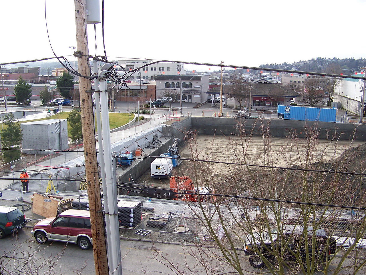 "February 20, 2008.  Excavating the site of Ballard's ""On the Park"" apartment building."