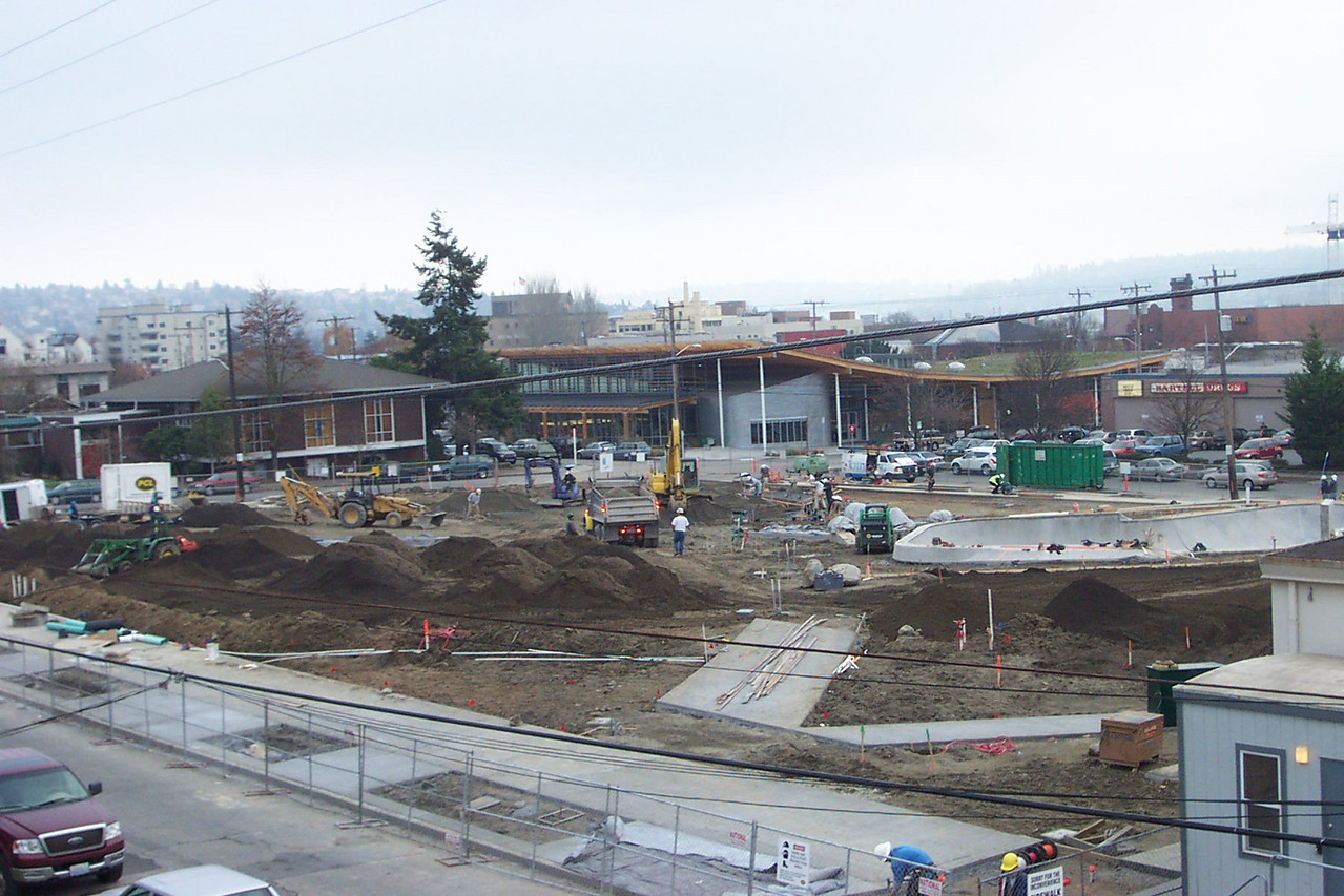 In November 2005, truckload after truckload of topsoil was brought in for the lawn and planting beds at Ballard Commons Park.