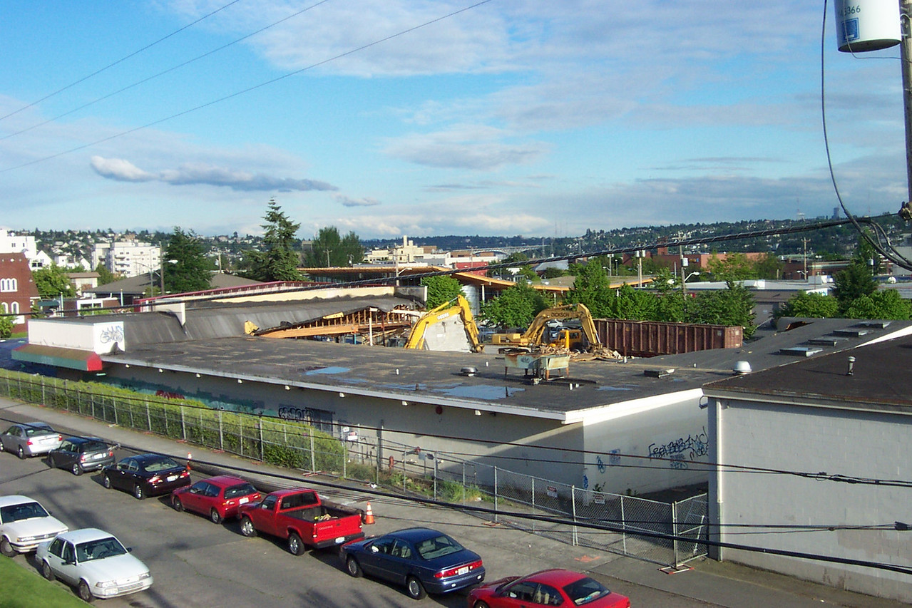 The old Safeway building across from my condo in Ballard was demolished over several days in May 2005.