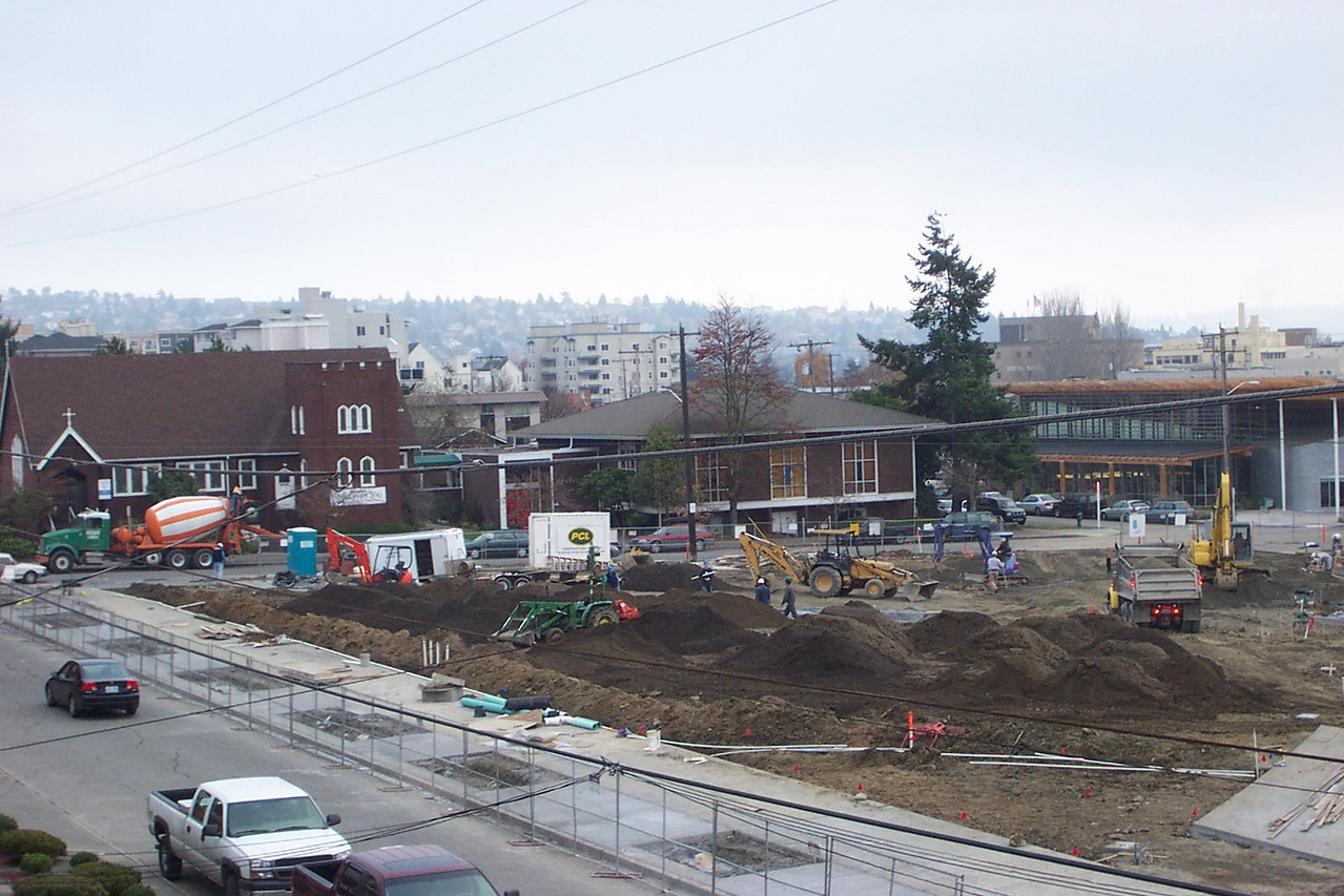 November 2005.  Creating Ballard Commons Park.