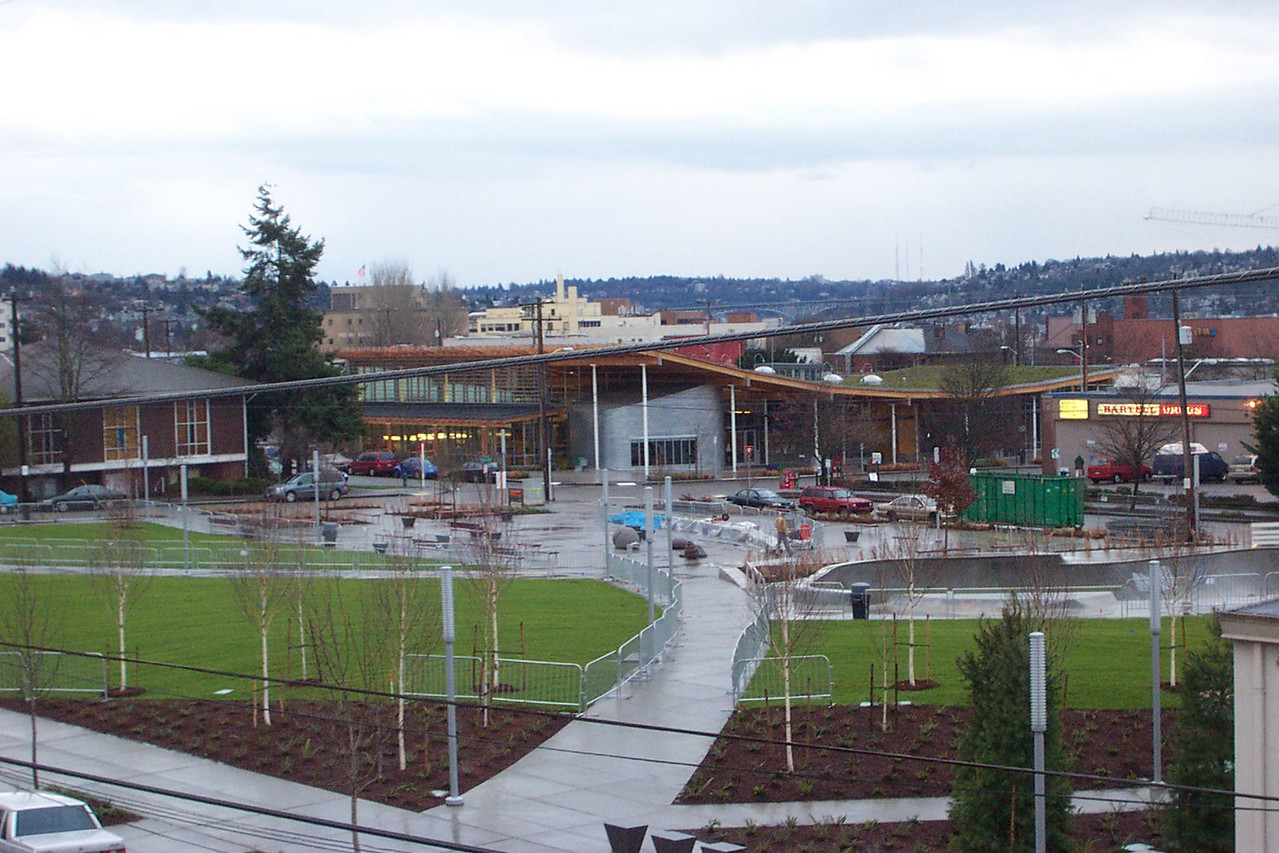 December 30, 2005.  The smaller fences will stay up about 6 more weeks to keep people off the newly-planted grass at Ballard Commons Park.