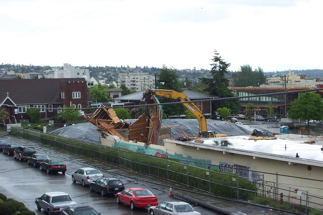 Demolition of the old Ballard Safeway in May 2005.