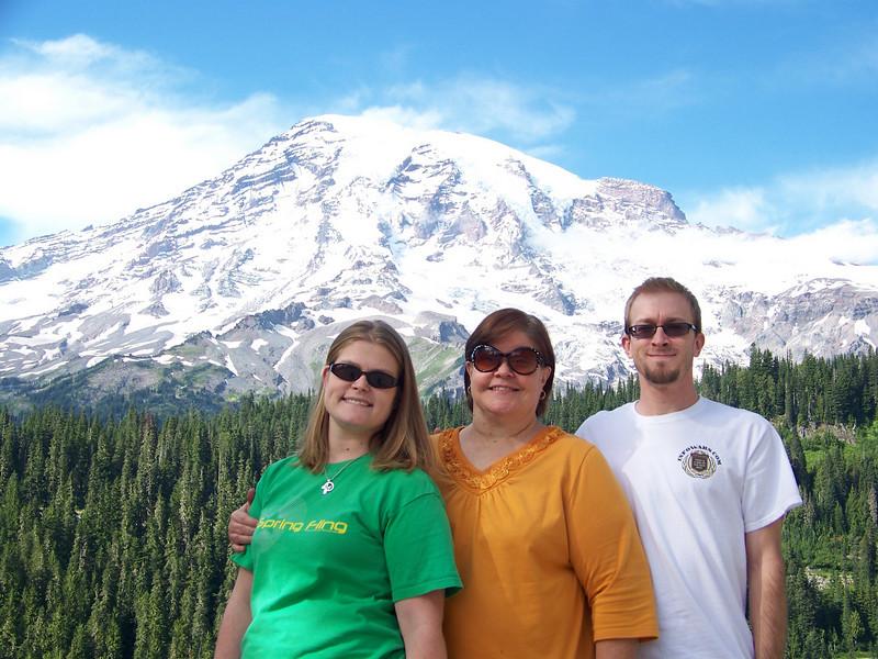 Wendy with both her children--Jenna and Josh.<br /> [Mount Rainier]