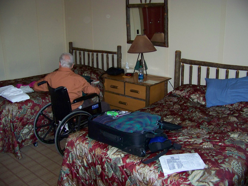 Dad and I shared this room at the Paradise Inn.<br /> [Mount Rainier]