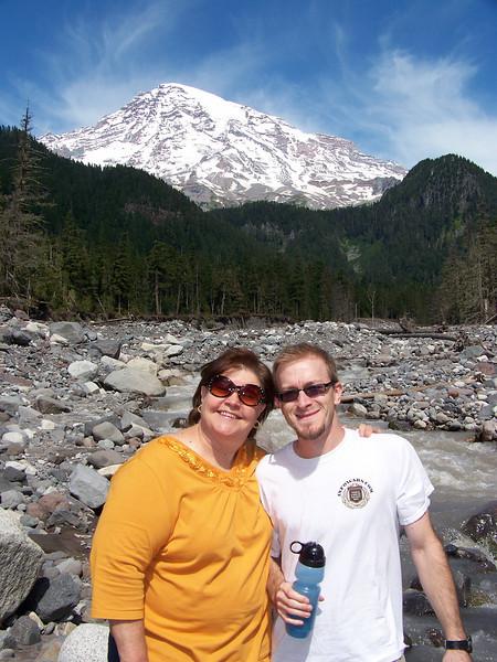 Wendy and Josh.<br /> [Mount Rainier]