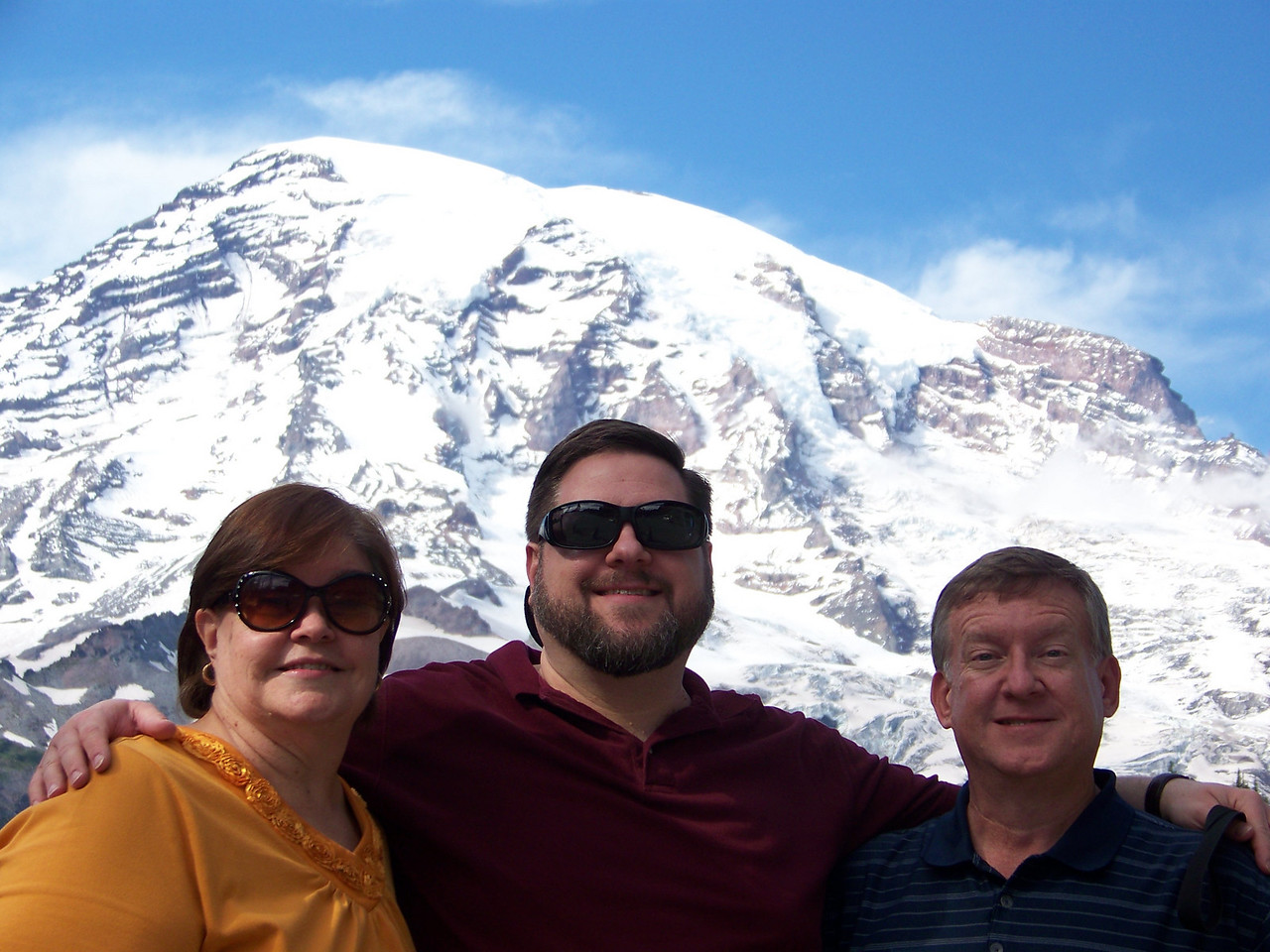 Me flanked by my sister, Wendy, and my brother, Mark.<br /> [Mount Rainier]