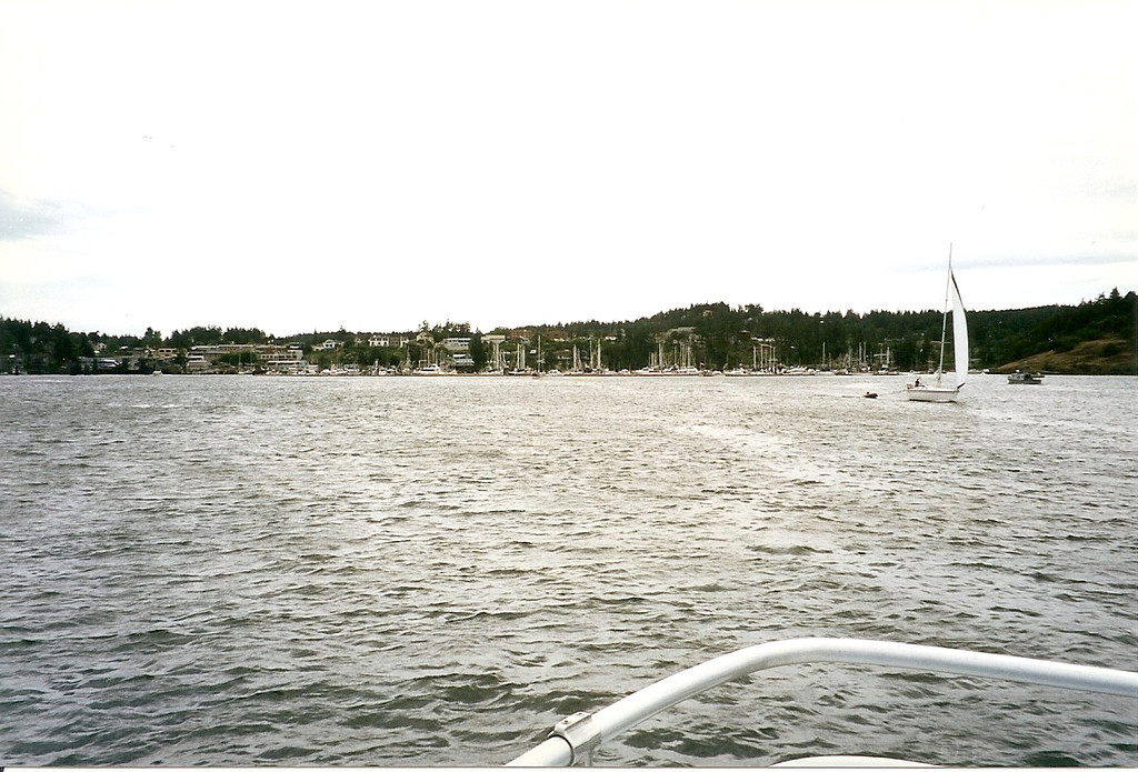 After several exciting hours of whale watching, we had to endure a couple of boring hours on the return trip to Everett.  Here we are finally approaching the marina where we began.