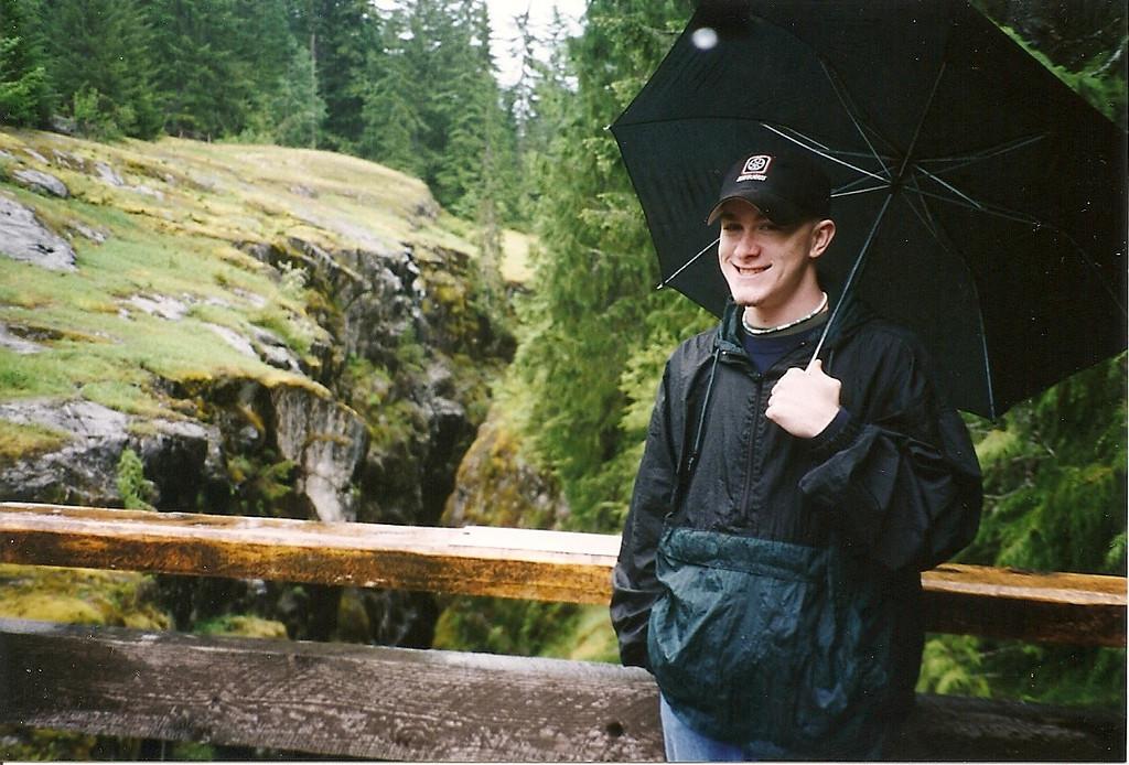 Our next destination was Mount Rainier.  Here's Josh on the bridge over Box Canyon.