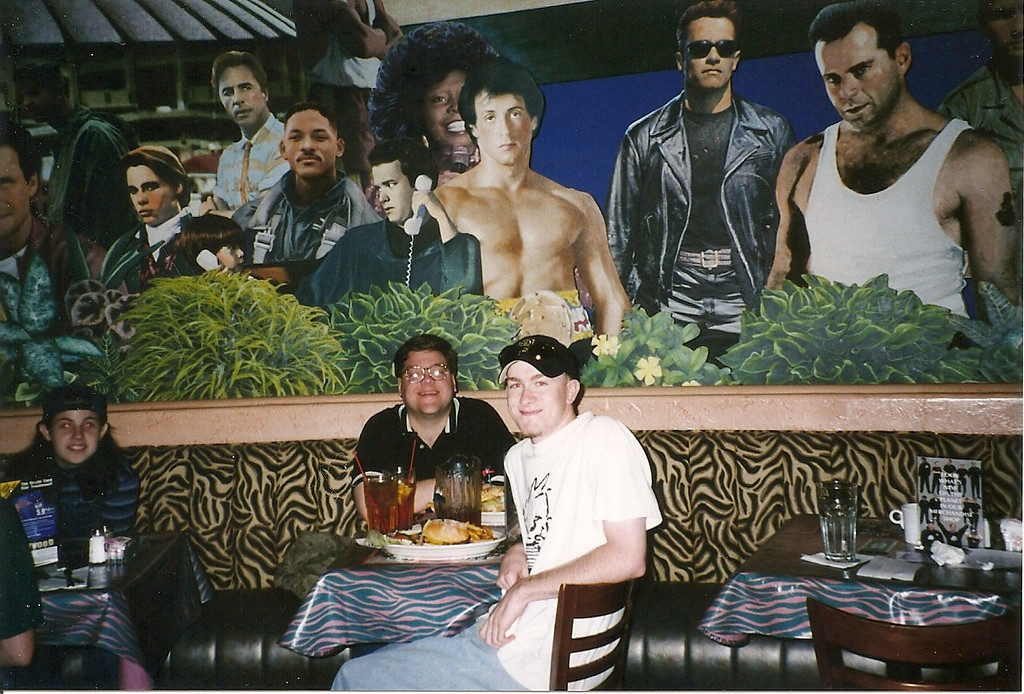 Josh and I had lunch at Seattle's Planet Hollywood, surrounded by the stars and their memorabilia.  This place also closed a few years later.