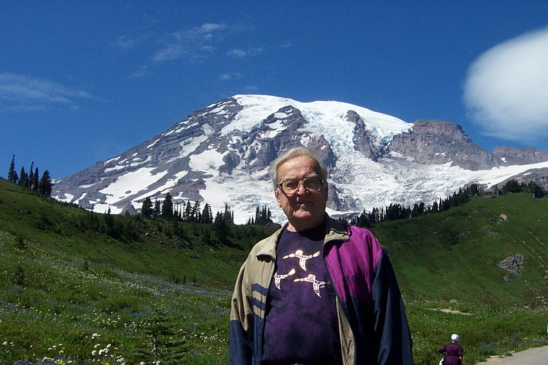 Dad and Mount Rainier.