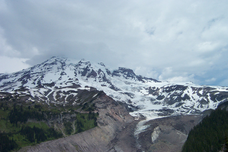 The Nisqually glacier as seen from the Nisqually Vista Trail.