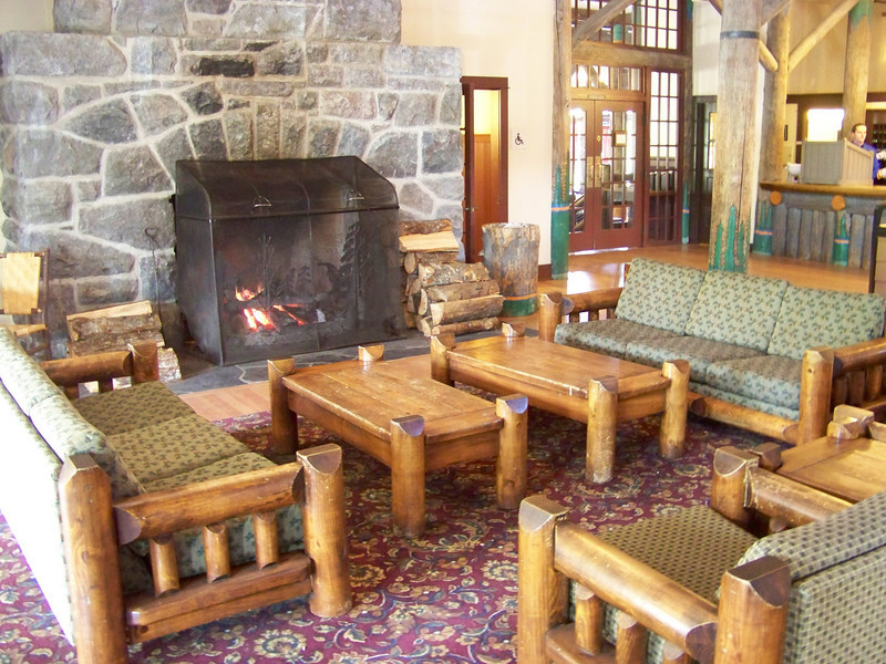 For example, you'd never know it to look at them, but the large fireplaces on either end of the lobby were completely disassembled and rebuilt with steel reinforcements inside the stones to ensure that their chimneys won't collapse during an earthquake.