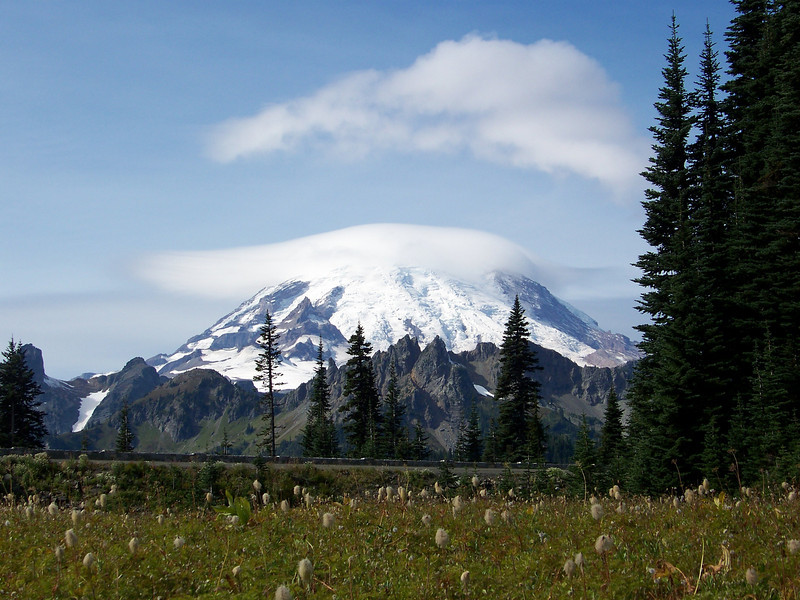 Mount Rainier as seen from the Tipsoo Lake area.