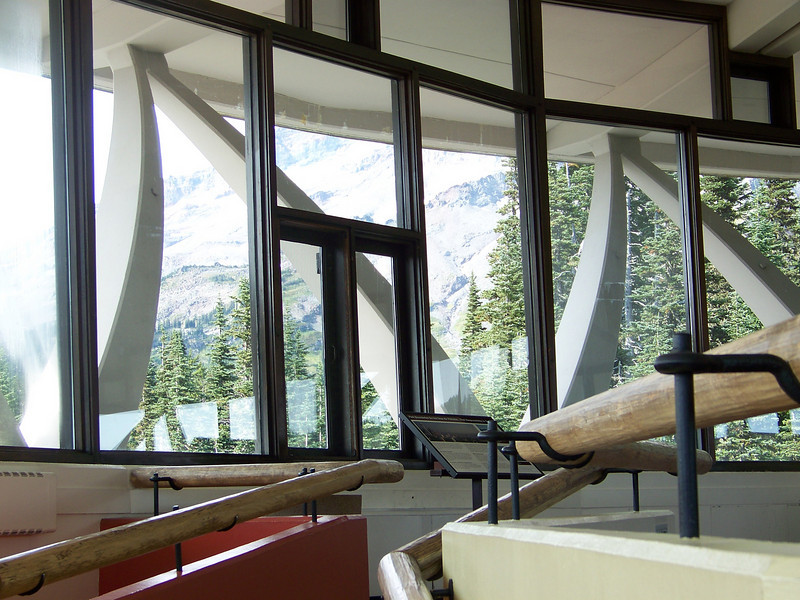 Floor-to-ceiling windows provided a 360 degree view of the surrounding area.