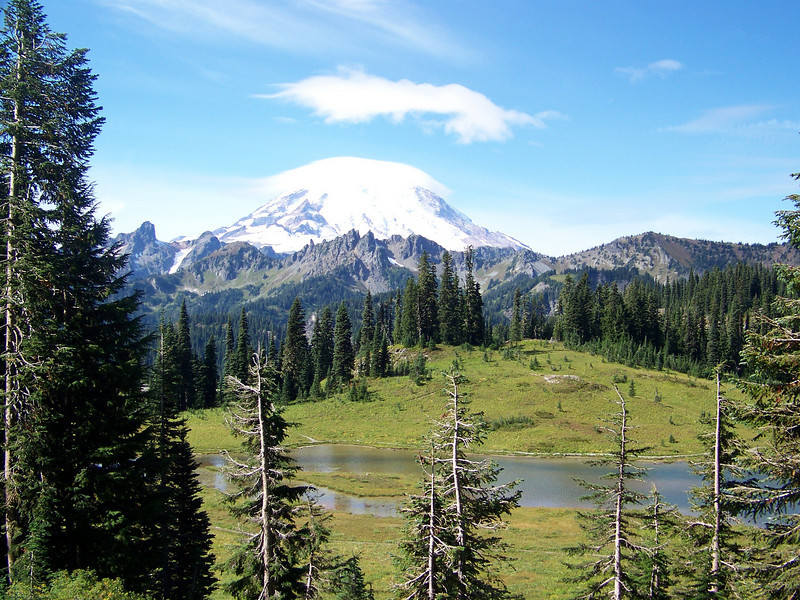 Mount Rainier from Tipsoo Lake.
