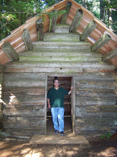 At Longmire, we did the short Trail of the Shadows.  This re-created cabin is on that trail.  Thanks for finally indulging me and going to Mount Rainier, Dave!  Shall we start planning a return trip for 2031? :-)