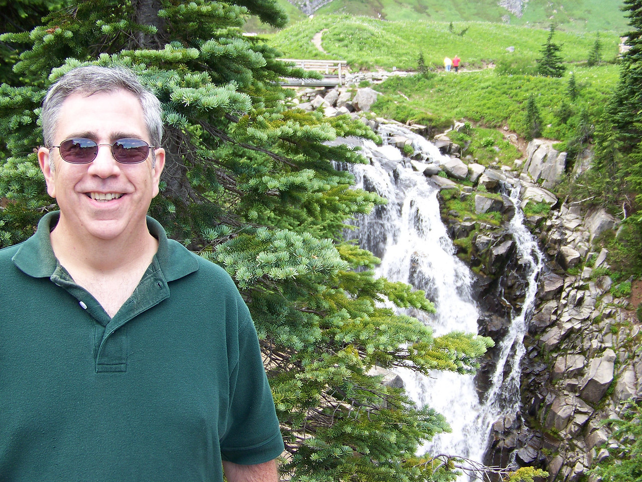 Dave at Myrtle Falls.