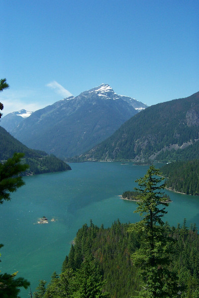 We also drove part of the way up the North Cascades Highway.  This is Diablo Lake in North Cascades National Park.