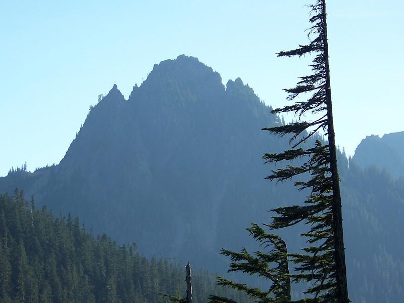 A peak in the Tatoosh Range, seen from Narada Falls.<br /> [Mount Rainier]