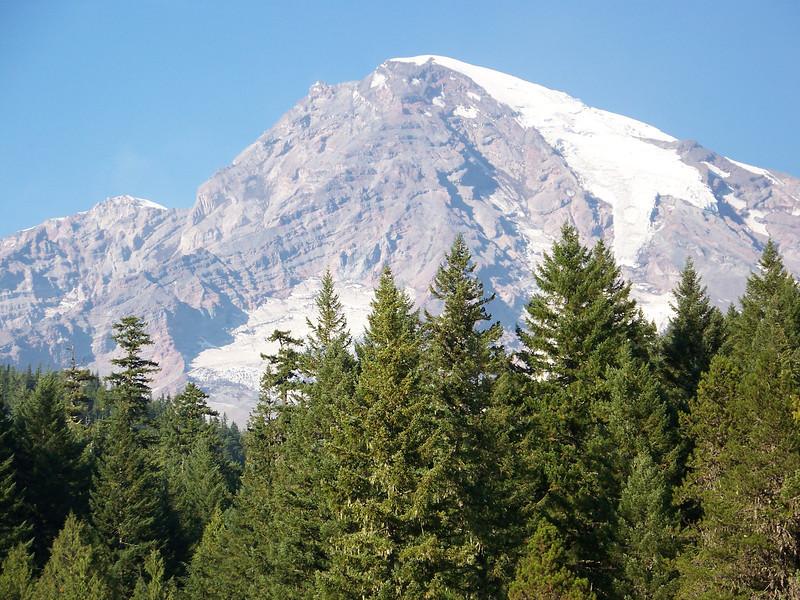 Mount Rainier, seen from Longmire.