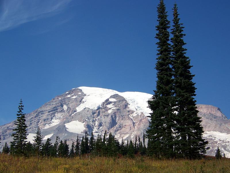 Mount Rainier on a beautiful fall day.