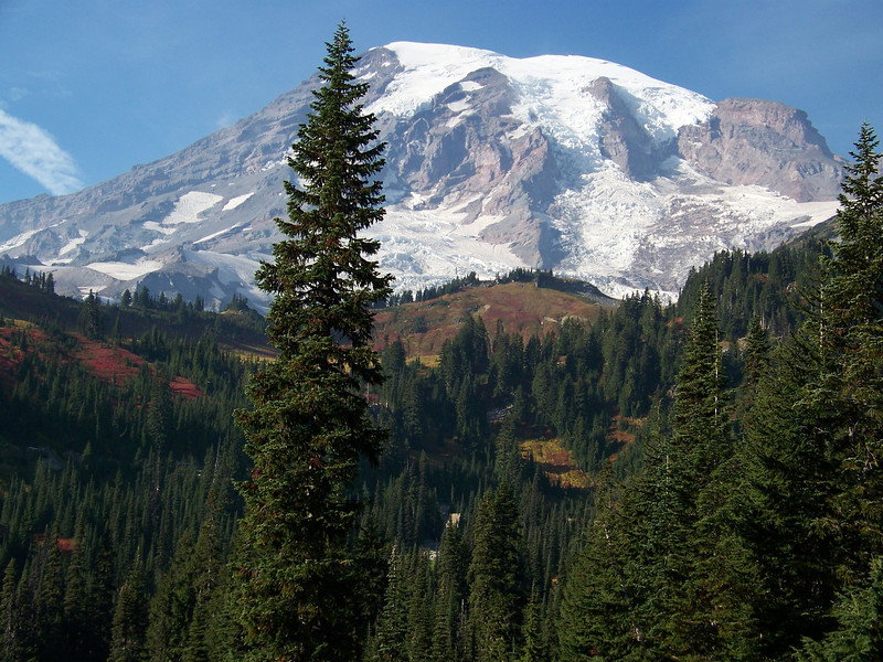 A gorgeous fall day at Mount Rainier.