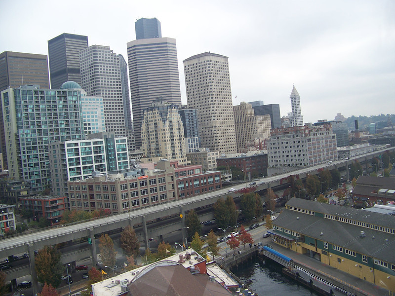 View of downtown from the Seattle Great Wheel.