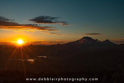 Cascade Sunset 2 from Mt. Bachelor