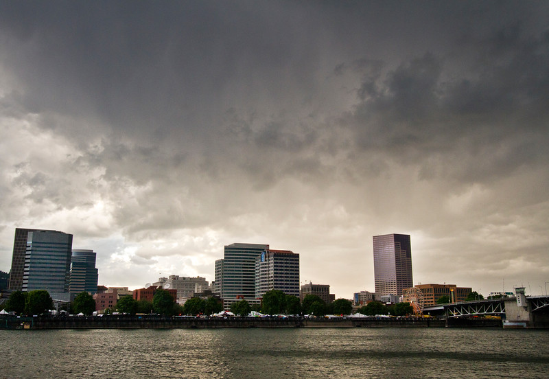 Portland, Oregon, during a thunderstorm
