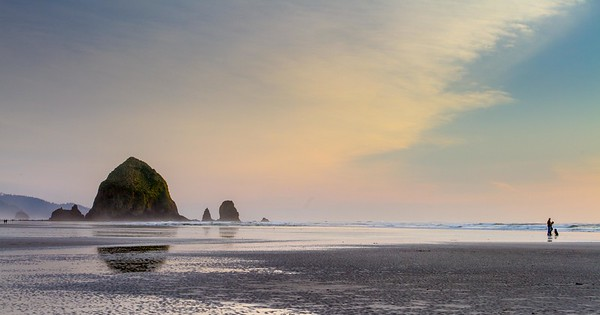 Evening at Cannon Beach, Oregon